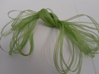 Sage light Green Sheer organza ribbon, 2, 10 or 25 metre roll, Double sided 3mm 9mm 15mm 25mm 40mm